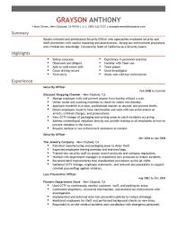 Security Job Resumes Examples Free Resume Example And Writing