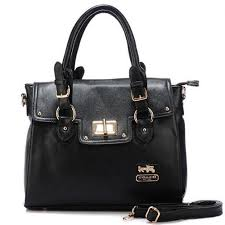 Discount Coach Sadie Flap In Spectator Medium Black Satchels AOK Clearance