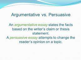 argumentative essay standard elagsew what is it an essay that  argumentative vs persuasive an argumentative essay states the facts based on the writers claim or