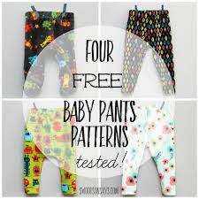 Baby Patterns Custom 48 Free Baby Pants Sewing Patterns Tested