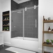 OVE Decors Sydney 59.5-in W x 59-in H Bathtub Door