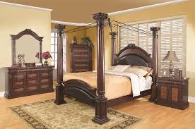 Poster Bedroom Furniture Coaster Grand Prado King Poster Bed W Upholstered Panels