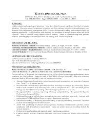 Cover Letter Resume Doctors Doctors Resume For Freshers Resume