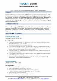 Home Health Care Job Description For Resume Home Health Nurse Resume Samples Qwikresume