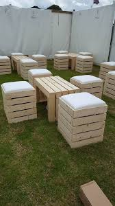 crate outdoor furniture. Fine Furniture Outdoor Crate  Pallet Furniture Hire And