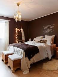 brown wall bedroom decor. Unique Bedroom An Old Ladder Is Used As A Decor Accessory In This Warm Bedroom Brown  Bedroom Decor For Wall O
