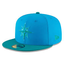 Blue Seattle Mariners Weekend 2018 Era Players' green Hat On-field New Fitted 59fifty