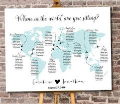 World Map Seating Chart Printable Digital Personalized File
