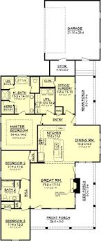 narrow lot house plans with side entry garage new house plans 1700 to 1900 square feet