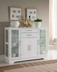 white kitchen storage cabinets. Contemporary Storage Image Is Loading KingsBrandKitchenStorageCabinetBuffetWithGlass With White Kitchen Storage Cabinets E