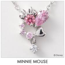 disney necklace disney minnie mouse heart silver jewelry accessories lady s pendant vpcds20166 mini regular article