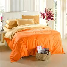 yellow orange bedding set king size queen quilt doona duvet cover designer double bed sheets linen bedsheet bedspreads solid 100 cotton full size