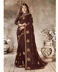 Stunning Designer Sarees Stunning Brown Designer Saree