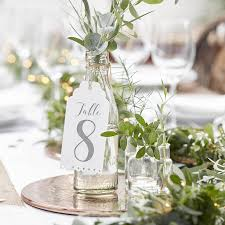 Large Luggage Tag Wedding Table Numbers - table decorations