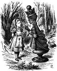 tenniel red queen with alice jpg