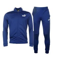 puma mens tracksuit. puma baseball collar tracksuit mens the provides a stylish, sporty appearance comprising of two piece jacket and trousers,
