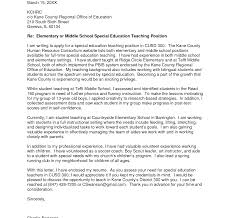 Higher Education Cover Letter Easy Writing Special Teacher