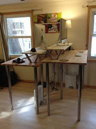 diy standing desk cinder block. Plain Desk Tall DIY Standing Desk Intended Diy Cinder Block