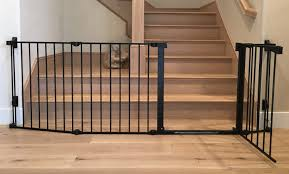 Extra wide child safety toddler stair gate.   Baby Safe Homes