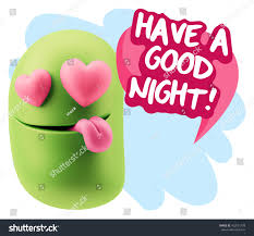 goodnight emoji 3d rendering emoji saying have good stock illustration 452031778