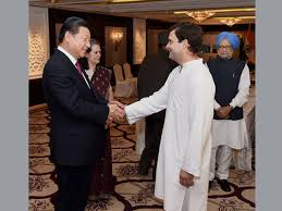 Image result for Rahul Gandhi with Chinese