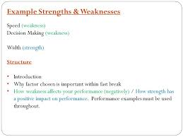 strengths and weaknesses examples structures strategies and compositions lesson 3 strengths