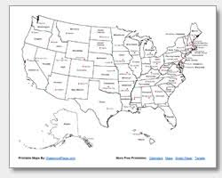 printable united states maps outline and capitals Map Of The United States With Names printable us map with state names and capitals map of the united states with names printable