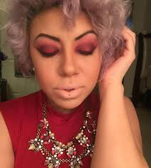 smokey eye for red dress