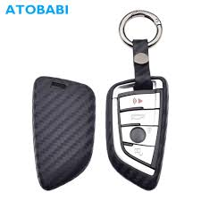 Car Key Case <b>Carbon Fiber Pattern Silicone</b> Smart Remote Fob ...