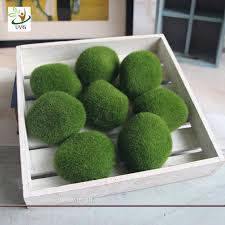 Decorative Moss Balls Different Size Fuzzy Artificial Decorative Moss Balls Fake Rock 78