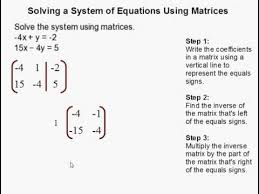 of equations using matrices you