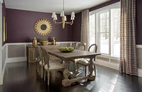 Purple And Grey Dining Rooms Transitional Dining Room Mesmerizing Grey Dining Room