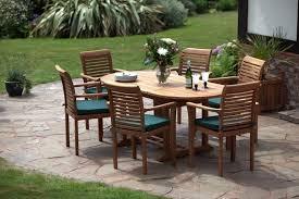 paris 6 seater teak garden furniture set stackable chairs table extends