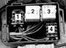 bmw 525i e34 (1991 1994) fuse box diagram auto genius e34 rear fuse box bmw 525i fuse box auxiliary relay box