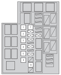 toyota rav4 mk4 fourth generation (xa40; 2012 2014) fuse box 2014 toyota rav4 fuse box diagram at Toyota Rav4 Fuse Box