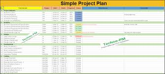 Sample Project Plan Outline Simple Project Plan Template Free Download Project