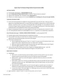 Federal Resume Example The Outline Format For Usajobs Builder And