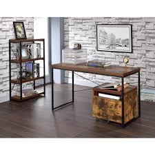 Weathered Oak Furniture Acme Furniture Bob Weathered Oak Desk 92396 The Home Depot