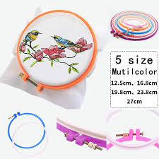 New <b>1 Pc Adjustable Embroidery</b> Hoop Sewing Tools Plastic Cross ...