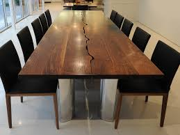 bespoke dining or conference table in solid walnut