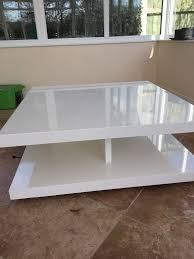 ms designer goss white coffee table in very good condition in for m amp