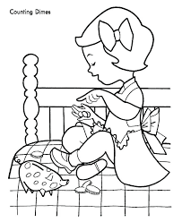coloring pages money coloring worksheets pages fake play printable coins colouring sheets of shared by