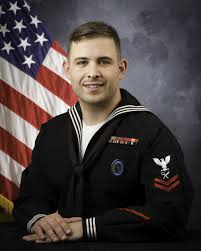 official portrait intelligence specialist 2nd class travis k arizpe united states naval reserve navy intelligence specialist