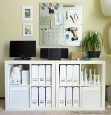 diy office storage. Apartment Home Office Makeover Expedit Storage Tool Pegboard The Decor Guru Diy