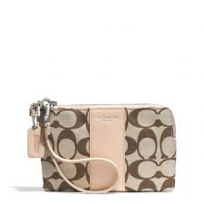 Lyst - Coach Boxed Legacy Lzip Small Wristlet in Printed Signature ...