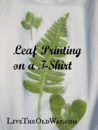 leaf printing on a t shirt