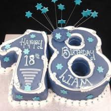 18th For A Boy Numbered Birthday Cake Celticcakescom