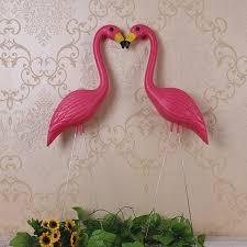 garden flamingos. EALISEN 2 Plastic Bight Pink Premium Flamingos Garden ,yard And Lawn Art Ornament Wedding Ceremony L