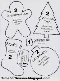 Christmas Ornament Patterns Best Елочные игрушки из фетра своими руками выкройки схемы шаблоны