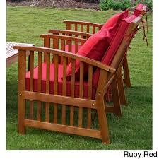 international caravan royal tahiti et yellow balau wood armchairs with cushions and pillows